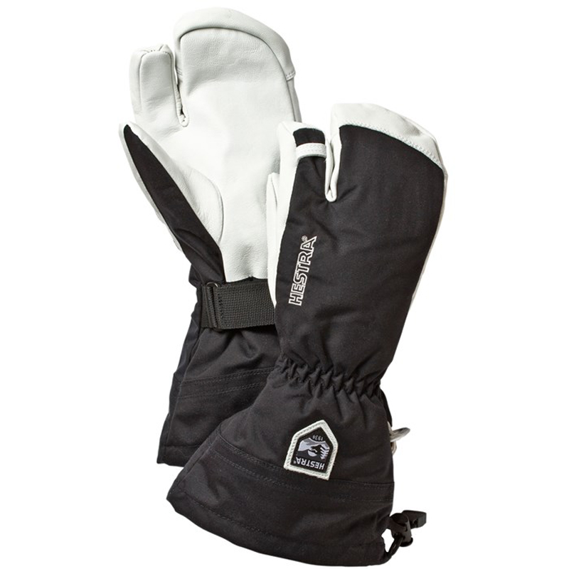 Army Leather Heli 3-Finger Ski Glove