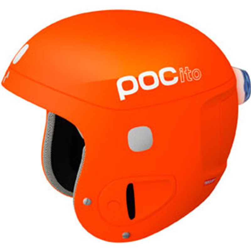 POCito Skull Jr Race Helmet - Orange
